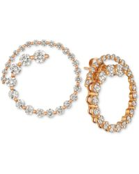 Le Vian - ® Diamond Swirl Stud Earrings (2-1/3 Ct. T.w.) In 14k Rose Gold - Lyst