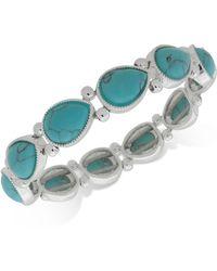 Nine West - Colored Stone Stretch Bracelet - Lyst
