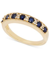Macy's - Sapphire (3/4 Ct. T.w.) And Diamond Accent Ring In 14k Gold - Lyst