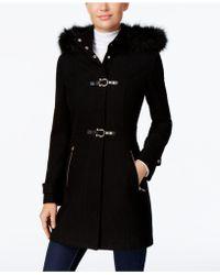 Ivanka Trump - Faux-Fur-Trim Buckled Walker Coat - Lyst