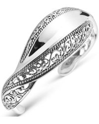 Carolyn Pollack - Signature Wave Cuff Bracelet In Sterling Silver - Lyst