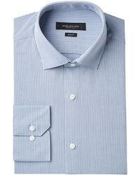 Marc New York - Slim-fit Motion-ease Collar Wrinkle-free Diamond Print Dress Shirt - Lyst