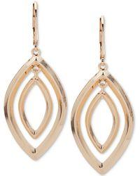 Anne Klein | Silver-tone Orbital Drop Earrings | Lyst