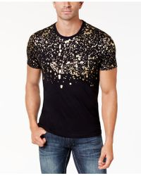 INC International Concepts - Gold-foil T-shirt, Created For Macy's - Lyst