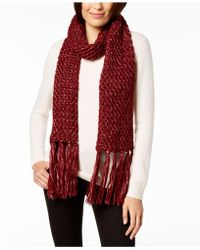 Steve Madden - Shimmer-knit Tassel Scarf - Lyst