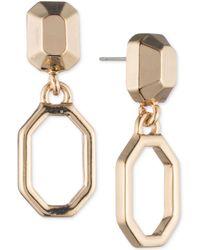Ivanka Trump - Geometric Open Drop Earrings - Lyst