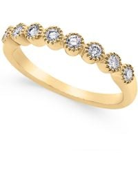 Macy's - Diamond Band (1/4 Ct. T.w.) In 14k White Gold - Lyst