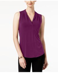 Charter Club - Sleeveless Surplice Top, Created For Macy's - Lyst