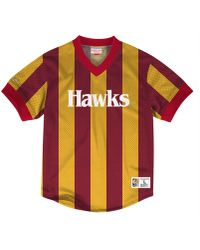 c027b485e3d Deion Sanders Atlanta Falcons Replica Throwback Jersey.  150. Macy s ·  Mitchell   Ness - Atlanta Hawks Kicking It Wordmark Mesh T-shirt - Lyst