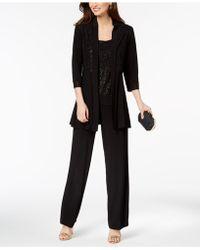 R & M Richards - Glitter-print Pantsuit - Lyst