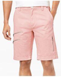 INC International Concepts - Men's Zip-detail Shorts - Lyst