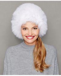 The Fur Vault - Fox Fur Hat - Lyst