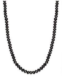 Macy's - Black Diamond Necklace In 14k White Gold (25 Ct. T.w.) - Lyst