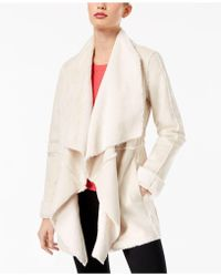 INC International Concepts - Petite Faux Suede Draped Jacket - Lyst