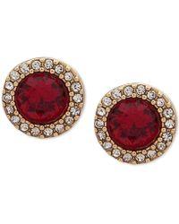 Ivanka Trump - Pavé & Stone Stud Earrings - Lyst