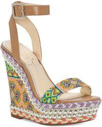 Jessica Simpson - Alinda Woven Platform Wedge Sandals - Lyst