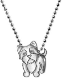Alex Woo | Yorkie Pendant Necklace In Sterling Silver | Lyst