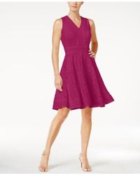 Charter Club | Lace Fit & Flare Dress, Created For Macy's | Lyst