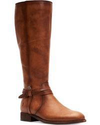 Frye - Melissa Belted Tall (black Washed Oiled Vintage) Women's Boots - Lyst