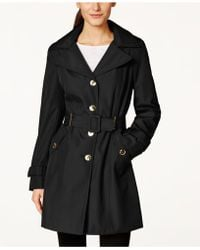 CALVIN KLEIN 205W39NYC - Petite Hooded Single-breasted Trench Coat - Lyst
