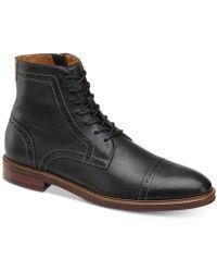 Johnston & Murphy - Warner Cap-toe Zip Boots - Lyst
