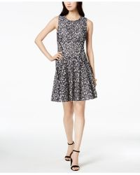 Tommy Hilfiger - Lace Fit & Flare Dress - Lyst