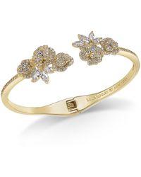 Kate Spade - Crystal Flower Cuff Bracelet - Lyst