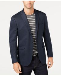 Kenneth Cole Reaction - Slim-fit Stretch Navy Textured Sport Coat - Lyst