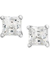 Macy's - Princess-cut Diamond Stud Earrings In 14k White Gold & Yellow Gold (1/2 Ct. T.w.) - Lyst