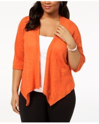 Alfani - Plus Size Open-front Cardigan, Created For Macy's - Lyst