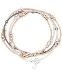 Nine West - Tri-tone 5-pc. Set Beaded Stretch Bracelets - Lyst