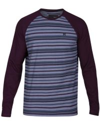 Hurley - Men's Stripe Thermal-knit Raglan-sleeve T-shirt - Lyst