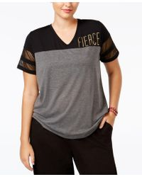 Material Girl - Active Plus Size Sparkle Graphic T-shirt, Only At Macy's - Lyst