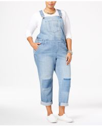 American Rag - Trendy Plus Size Malfa Wash Patched Overalls - Lyst