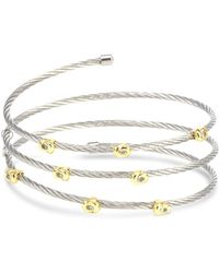 Charriol - Two-tone Coiled Wrap Bracelet In Stainless Steel & 18k Gold-plated Sterling Silver - Lyst