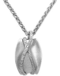 Effy Collection - Diamond Pendant Necklace (1/6 Ct. T.w.) In Sterling Silver - Lyst