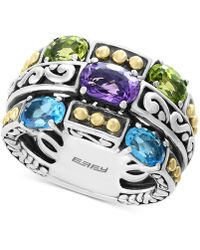 Effy Collection - Effy® Multi-gemstone Statement Ring (2-9/10 Ct. T.w.) In Sterling Silver & 18k Gold - Lyst