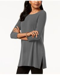 Alfani - Scoop-neck 3/4-sleeve Tunic - Lyst