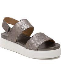 6dee36781dab Lyst - Franco Sarto Kenan Wedge Sandal in Metallic - Save 11%