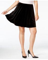 Soprano - Trendy Plus Size Velvet A-line Skirt - Lyst