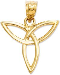 Macy's - 14k Gold Charm, Angel Trinity Symbol Charm - Lyst