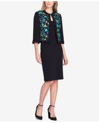 Tahari - Embroidered Skirt Suit - Lyst