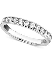 Macy's - Diamond Band Ring In 14k White Gold (1/2 Ct. T.w.) - Lyst