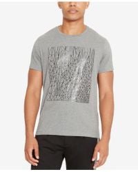 Kenneth Cole Reaction | Men's Reflective Sketch-print T-shirt | Lyst