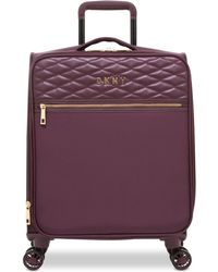 """DKNY - Allure 21"""" Quilted Softside Carry-on Spinner Suitcase - Lyst"""