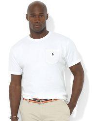 Polo Ralph Lauren | Men\u0026#39;s Big And Tall Pocket T Shirt | Lyst