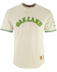 Mitchell & Ness - Oakland Athletics Sealed The Victory Henley T-shirt - Lyst