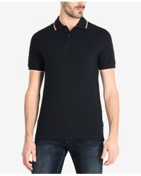 Armani Exchange - Contrst Tipped Polo - Lyst