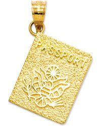 Macy's - 14k Gold Charm, Passport Charm - Lyst