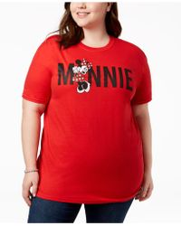 Disney - Plus Size Cotton Minnie Mouse Graphic T-shirt - Lyst